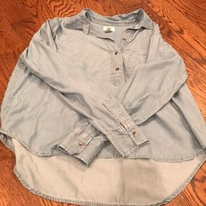 Old navy denim collared long sleeve shirt size S
